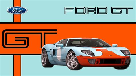 gulf racing logo ford gt in gulf racing livery wallpaper cars wallpaper