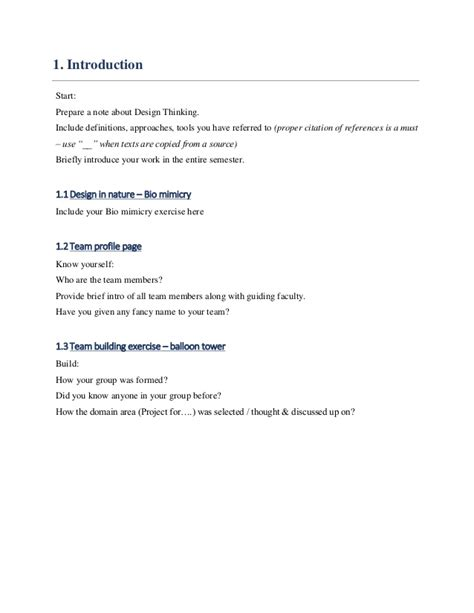 layout of an engineering report design engineering 1a report template
