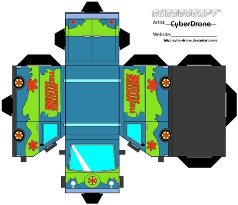 Scooby Doo Papercraft - cubee the mystery machine by cyberdrone on deviantart