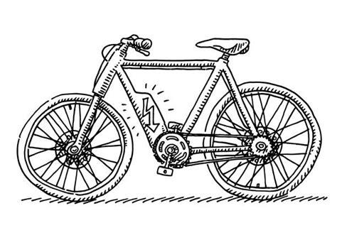 electric bike illustrations royalty  vector