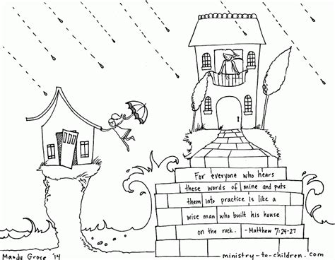 Wise Man Foolish Man Coloring Pages Coloring Home Wise Coloring Page