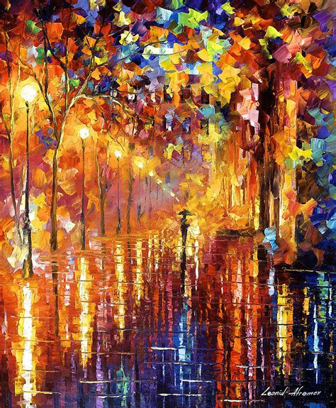 best painting dreaming rain palette knife oil painting on canvas by