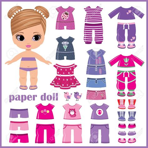 Doll With Paper - doll clothing clipart clipground