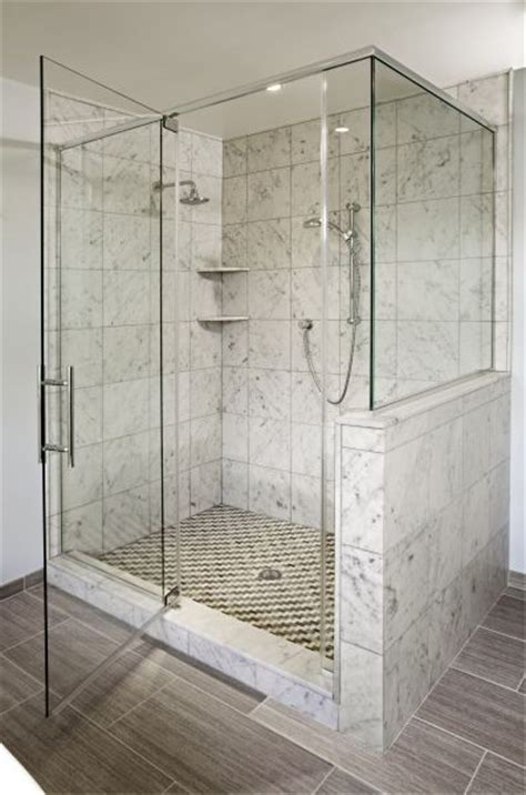 carerra marble custom steam shower master bath pinterest bathroom lighting frameless shower and marbles on pinterest