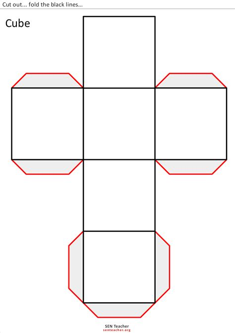 cuboid net template printable the gallery for gt rectangular prism template