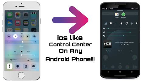 android like how to get iphone ios like center on android phone