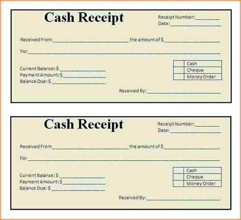 free template receipt of deposit for partenrship template of receipt of payment receipt of business