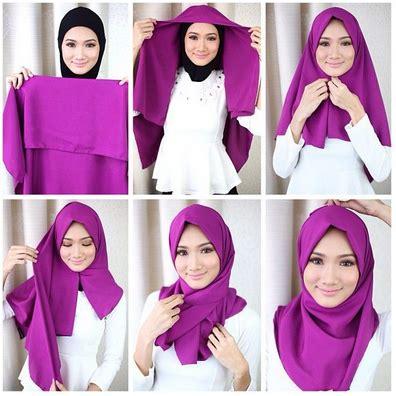 Gaya Segi Empat Modern Kreasi Jilbab Modern Segi Empat Gaya Terbaru 2016