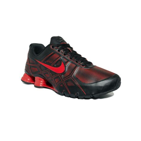 nike shox turbo xii sneakers in black for black