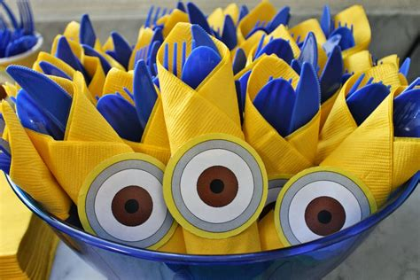 birthday themes minions minion cutlery party d 233 cor click or visit fabeveryday com