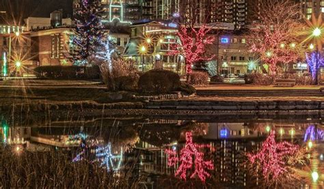 christmas lights at heritage park in barrie ontario