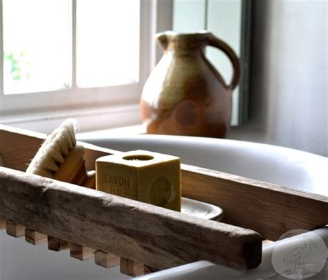 wood bathtub caddy rustic bathtub caddy bathtub tray reclaimed wood style