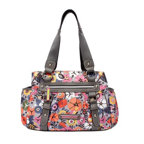 Lily Bloom Women S Landon Triple Section Satchel Floral