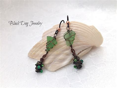 sea glass jewelry how to make green sea glass earrings jewelry journal