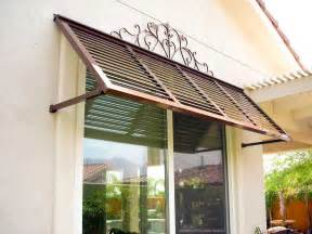 Outdoor House Awnings Exterior Windows Metal Awning And Window On