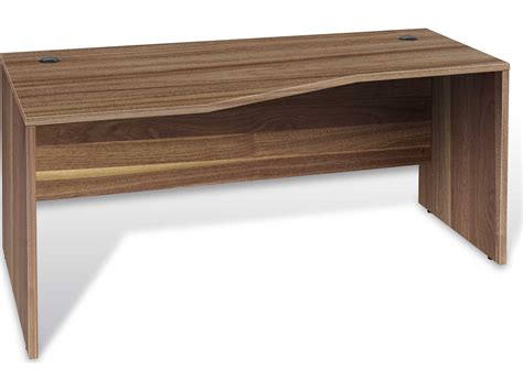 unique furniture 100 series 63 x 32 walnut left