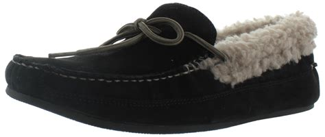 house shoes mens cole haan savin hill men s leather faux fur slippers house