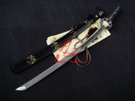 Japanese Handmade Katana - handmade black japanese katana petal tsuba functional