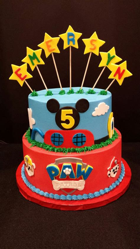 Mickey Mouse Clubhouse Paw Patrol  Ee  Birthday Ee   Cake