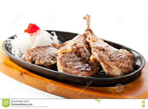 fried lamb chops pan fried lamb chops arkivfoto bild 79238859
