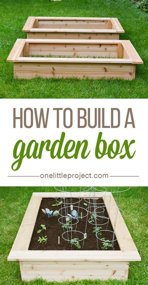 how to put a box together how to make a garden box