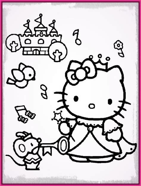 imagenes de kitty para iluminar dibujos para colorear de la hello kitty princesa archivos