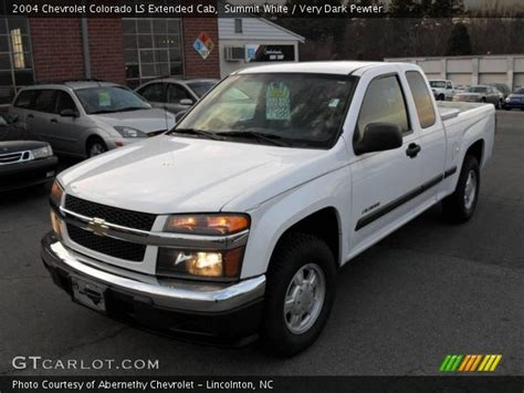 summit white  chevrolet colorado ls extended cab