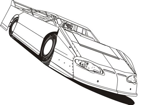 Late Model Free Coloring Pages How To Draw Late Models