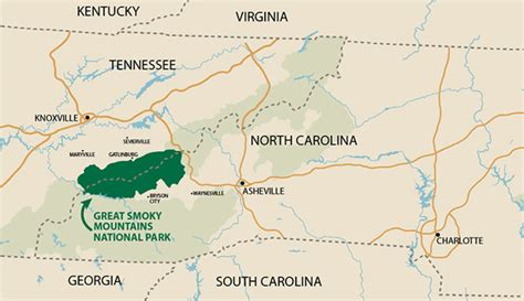 smoky mountains tennessee map where is great smoky mountains national park my smoky