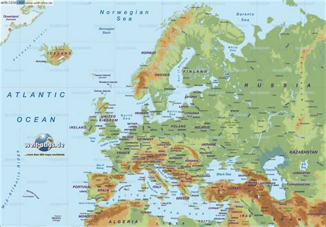 map of europe physical europe geographic map