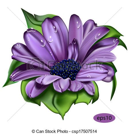 vector clip art of beautiful violet flower beautiful