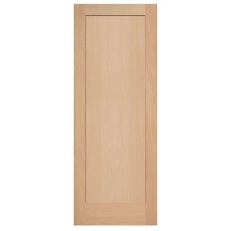 1 Panel Interior Doors Masonite 30 In X 84 In Maple Veneer 1 Panel Shaker Flat Solid Wood Interior Barn Door Slab