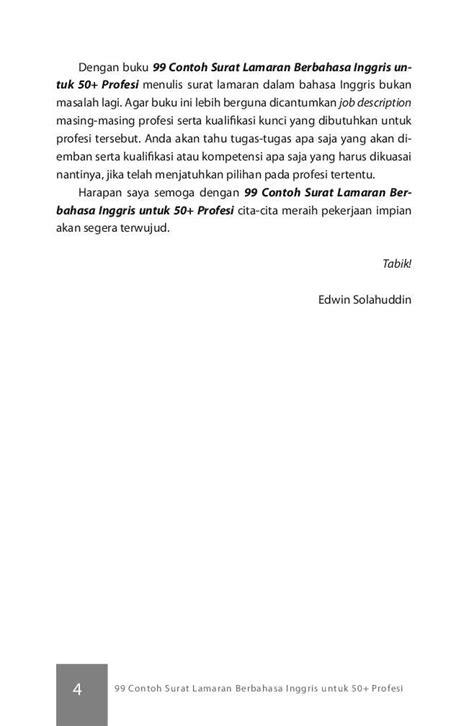 format surat lamaran kerja berbahasa inggris jual buku 99 contoh surat lamaran berbahasa inggris oleh