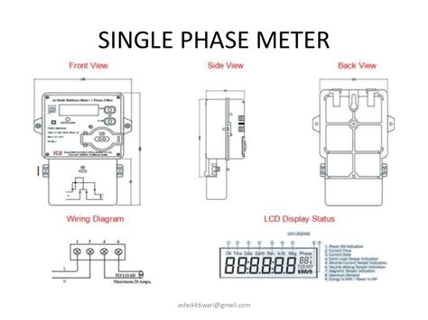 single phase energy meter wiring diagram diagrams auto