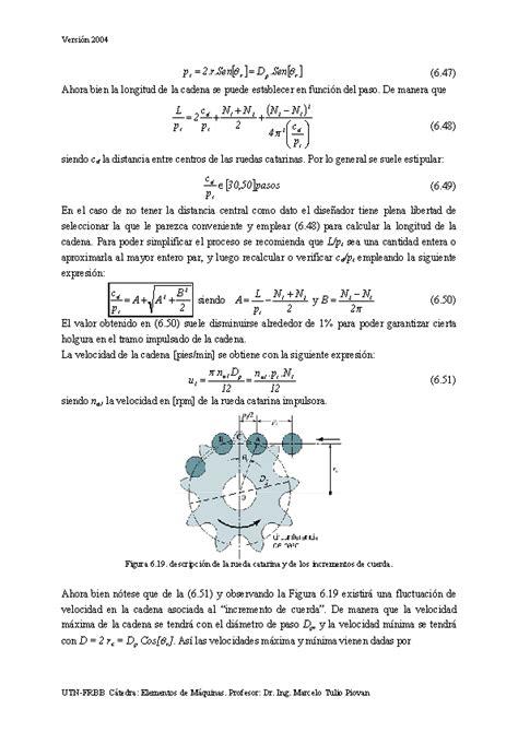 calculo de cadenas y catarinas proyecto de elementos de transmisi 243 n flexibles