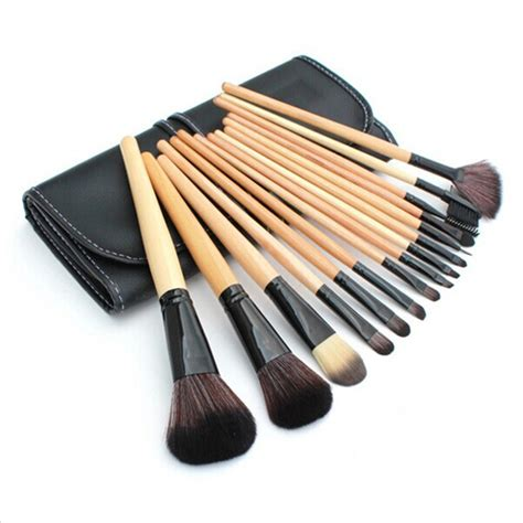 hair and makeup kit 15 pcs soft synthetic hair make up tools kit cosmetic
