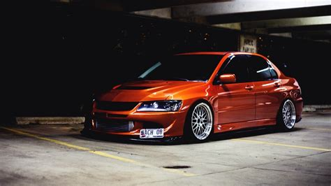 mitsubishi lancer evolution 9 orange sports mitsubishi lancer evolution ix wallpapers