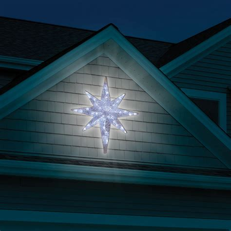 the prismatic star of bethlehem light show hammacher