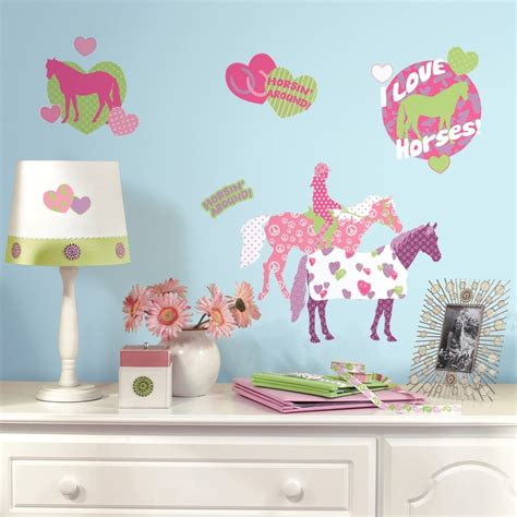 wall decals for girls bedroom 44 new horse crazy wall decals girls horses stickers pink