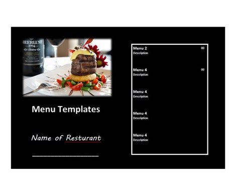 free menu design templates 31 free restaurant menu templates designs free