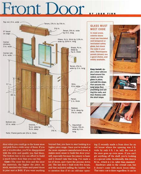 Build Front Door Woodarchivist How To Build A Exterior Door