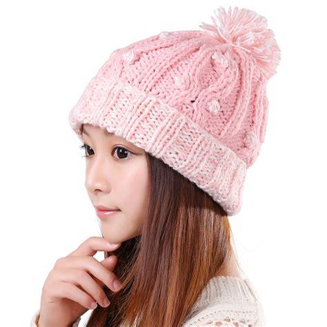 Handmade Beanies - autumn winter warm thick handmade knit hats