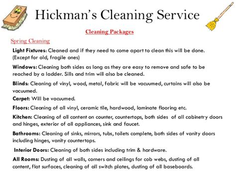 Restoration Company Introduction Letter Hickman S Cleaning Service Power Point Presentation 2013