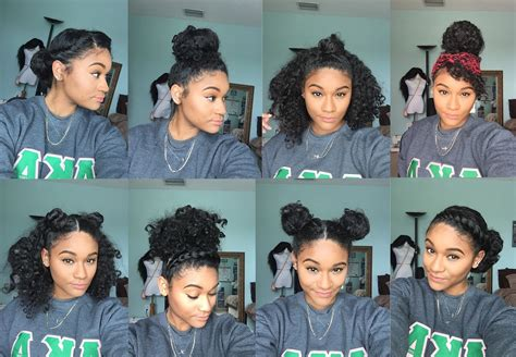 different hair styles for curly hair in tamil natural hair 8 bun styles for curly hair youtube