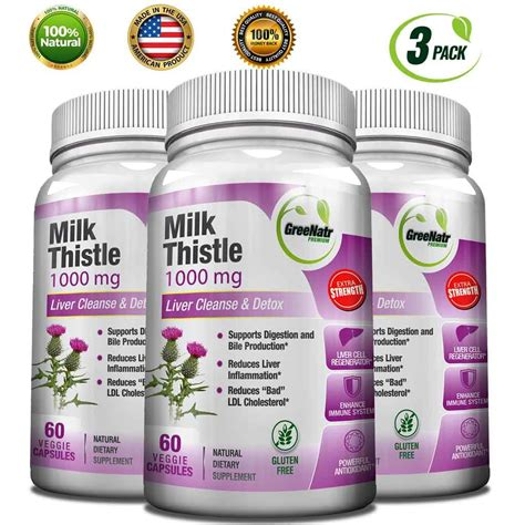 Milk Thristle And Detox by Milk Thistle 1000 Mg Liver Cleanse Detox Greenatr