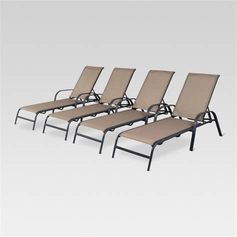 lounge chairs target 4pk stack sling patio lounge chair room essentials target