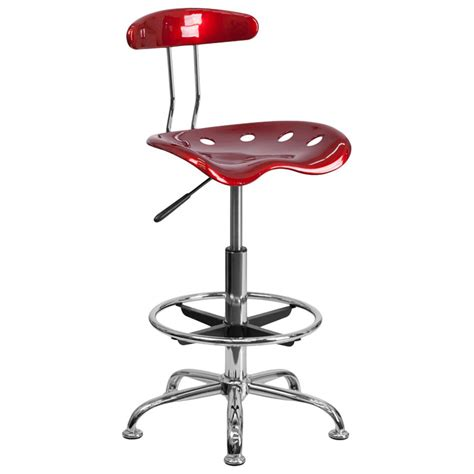 White Tractor Seat Stool by Wine Drafting Stool With Tractor Seat And Chrome Frame