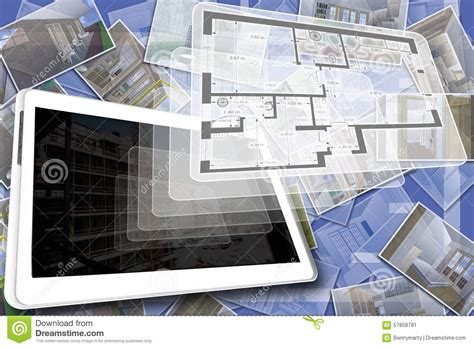 house plan stock illustration image