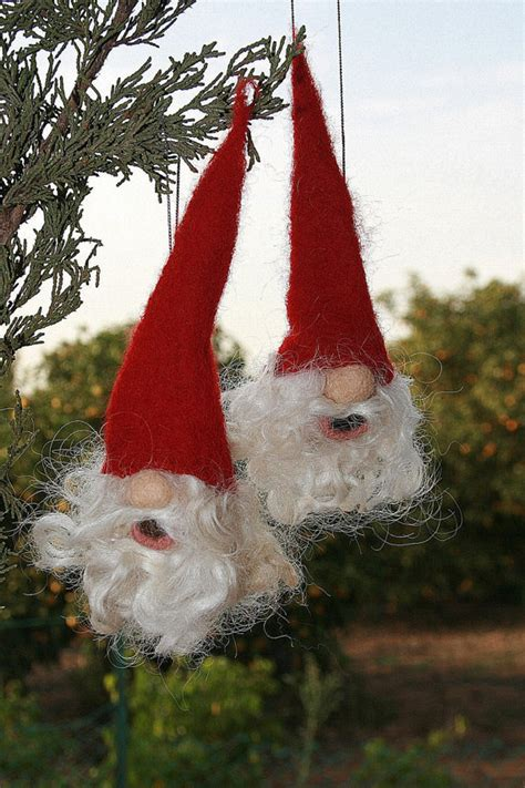 items similar to needle felted gnome christmas tree