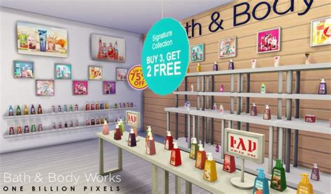 bathtub shopping one billion pixels bath body works shop v2 sims 4 downloads